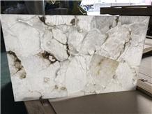 Translucent Faux Polished Onyx Building Stone