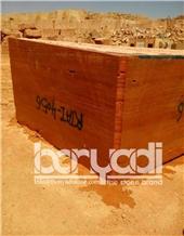 Iran Red Travertine Block