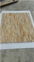 Yellow Wooden Sandstone Mosaic