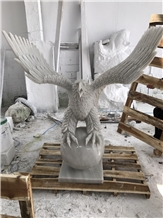 Hand Carved Eagle, Stone Carving, Natural Stone