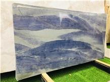 Brazil Azul Macaubas Blue Quartzite Backsplash Tile