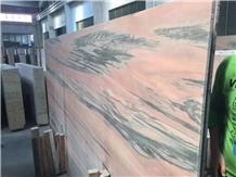 Polished Leonardo Da Vinci Pink Marble Slabs Tiles