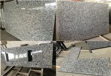 White Mist Granite Slab, Spray White Tiles