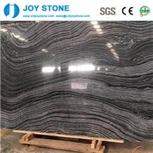 Good Quality China Zebra Black Marble Polish Slab