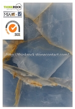 Blue Onyx Slabs and Tile