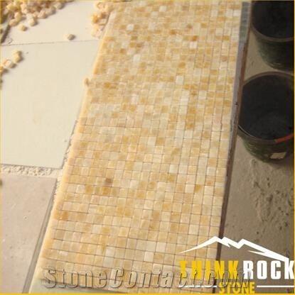 Honey Onyx Marble Mosaic Tile