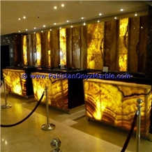 Backlit Onyx Bar Top,Commercial Counters