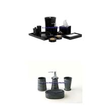 Jet Black Marble Bathroom Accessories Set Jet Black Tumbler