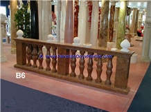 Marble Balustrade Red Marble Balustrade System