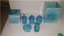 Marble Bathroom Accessories Set Colored Tumbler