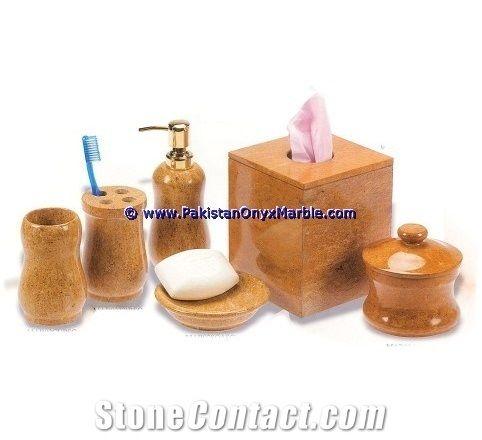 Marble Bathroom Accessories Set Cream Beige Bathroom Accessories From Pakistan Stonecontact Com