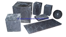 Marble Bathroom Accessories Set Gray Tumbler