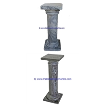 Marble Pedestals Stand Display Ziarat Gray Marble