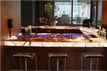Multi Brown Onyx Bar Top,Commercial Counter