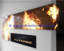 Multi Brown Onyx Fireplaces Decoration
