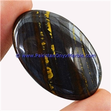 Multi Color Iron Tigers Eye Cabochons Polished