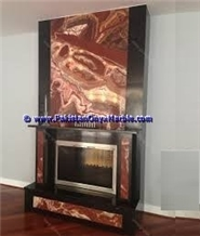 Multi Red Onyx Fireplaces