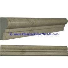 Pakistan Sahara Beige Marble Molding Chair Rail