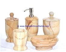 Teak Wood Marble Bathroom Accessories Set Teakwood Burmateak
