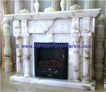 White Onyx Fireplaces