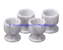 Ziarat Grey Marble Egg Cups Holder Stand