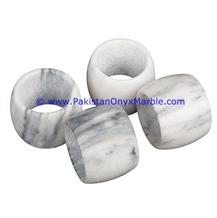 Ziarat Grey Marble Napkin Holders Rings New Designs