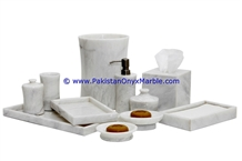 Ziarat White Marble Bathroom Sets
