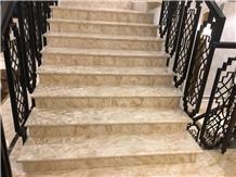 Landy Beige Marble Step Stair