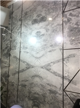 Armani Grey Silver Statuario Marble Slabs,Tiles