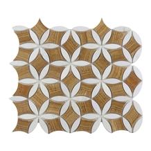 Yellow Wooden Flower Mosaic