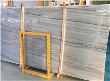 New Italian Gray Wood Vein Marble Flooring Slabs