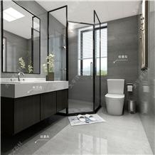 Silver Oman Grey Marble Tiles Project Interior Wall Cladding Bathroom Tiles