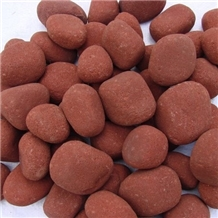Indian Agra Red Sandstone Pebble Stones