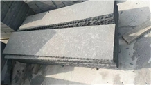 Flamed Absolute Black Basalt Wall Flooring Tiles