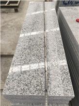 G602 Bianco Sardo Grey Granite Steps Stair Riser