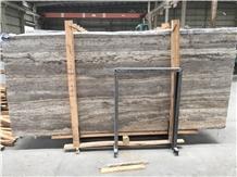 Iran River Silver Travertine Slabs & Flooring Tile