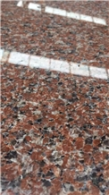 Zhuangcheng Island Red Granite Slab Floor Tiles