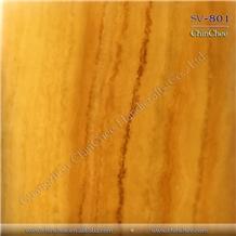 Backlit Honey Yellow Onyx Translucent Wall Panel