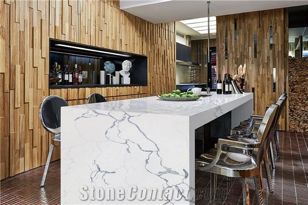 Marble Quartz Master Kitchen Countertop