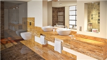 Travertino Oro Viejo Bathroom Top