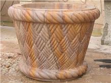 Jodhpur Gold Sandstone Flower Pots
