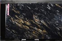 Titanium Black Premium Gold Granite Slabs