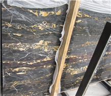 Nero Portoro Marble, Italy Black Marble
