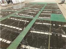 China Nero Marquina Marble Floor Tile