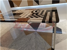 Multicolor Marble Table Surface Interior Furniture