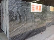 China Ancient Black Wood Vein Marble Slabs,Tiles