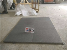 China Black Granite Flamed Tiles for Wall Cladding Flooring