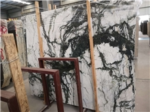 China Clivia White Green Marble Slabs,Tiles