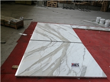 Italy Luxury Calacatta White Marble Wall Tiles