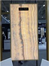 Ivory Onyx Vein Cut- Cross Cut